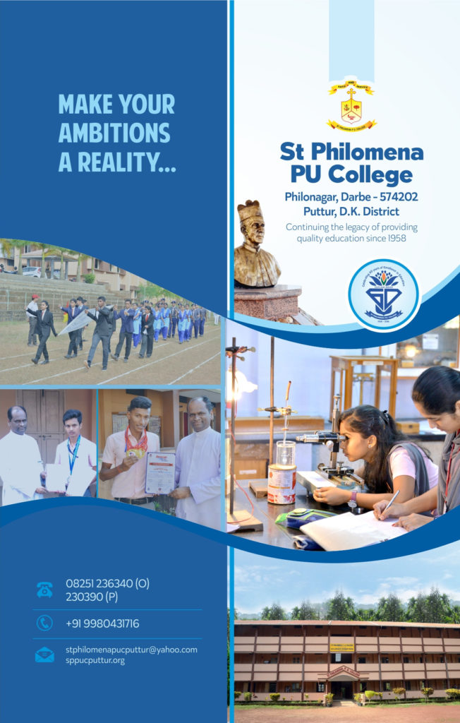 College Brochure  St Philomena Pre University College Puttur