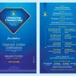 Invitation of Diamond Jubilee Celebrations