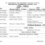 Revised Preparatory Examination Timetable - 2019