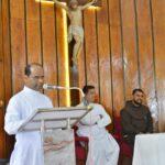 Retreat Mass at St Philomena P.U.College, Puttur